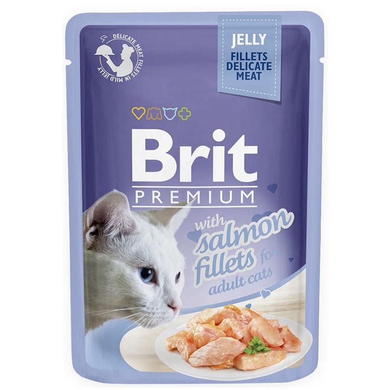 Brit Premium CAT Jelly Fillets With Salmon ŁOSOŚ 85g
